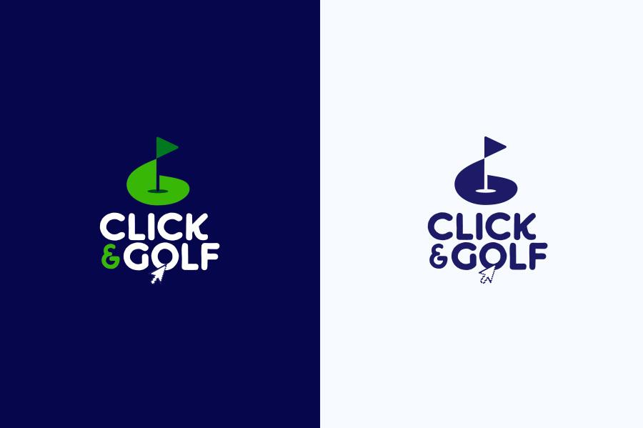 Logo click & Golf par PAOMA